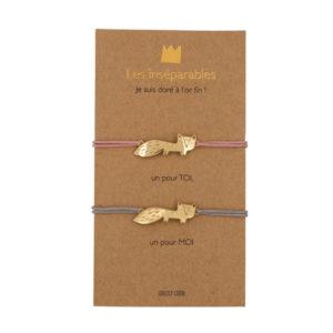 Bracelet les inséparables fox - Grizzly chéri