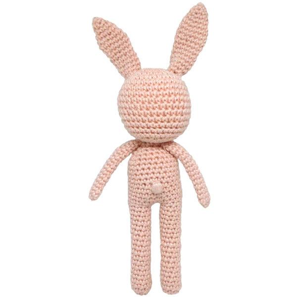 Une Pelote de laine - lapin en crochet rose