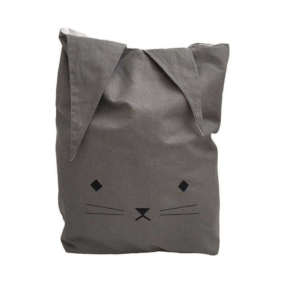 sac à jouet Fabelab chat gris