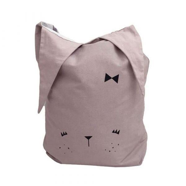 sac à jouet Fabelab chat rose