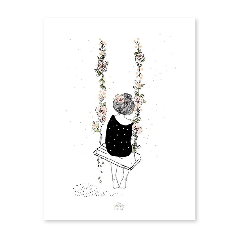 affiche lilipinso - My lovely thing Sur la balançoire