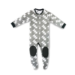 moon monster pyjama gris coton bio