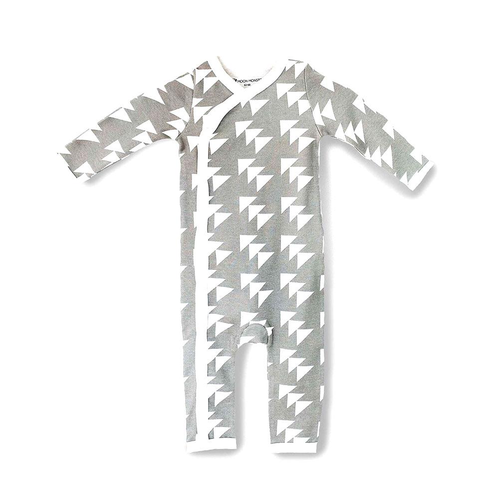pyjama- motif graphique gris - création Moon Monsters