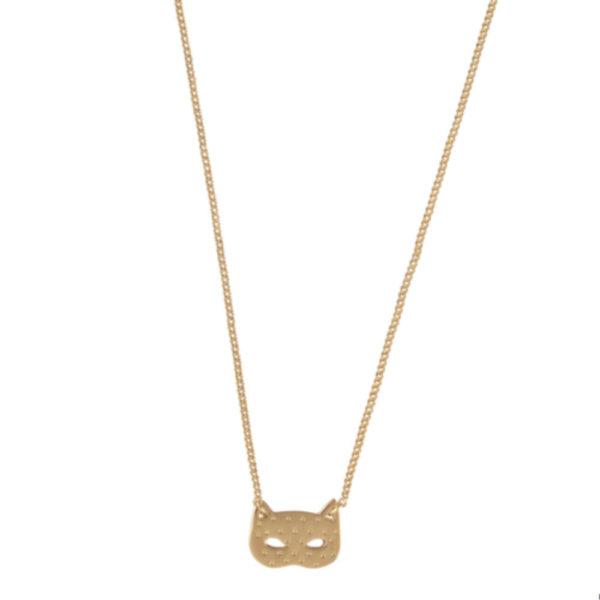 Grizzly chéri - collier dotty cat doré