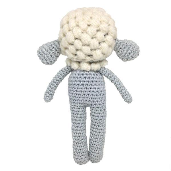 Une Pelote de laine - mouton bleu en crochet