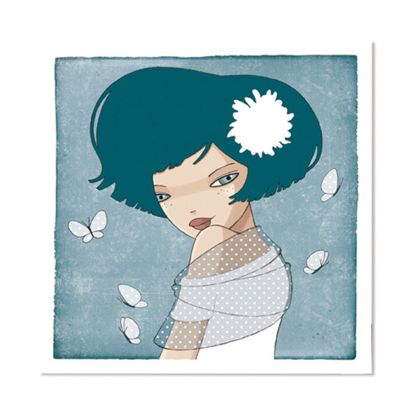 Jessica Secheret - illustration fille et papillon
