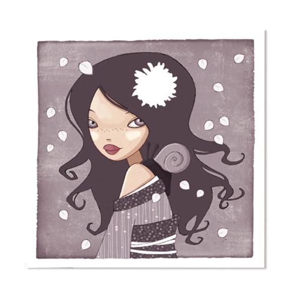Jessica Secheret - illustration fille et escargot