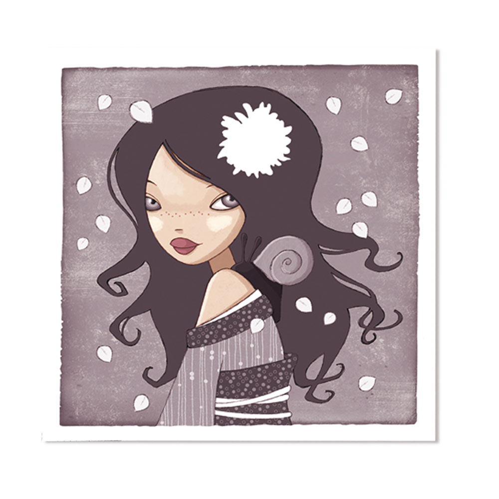 Jessica Secheret - illustration fille et escargot