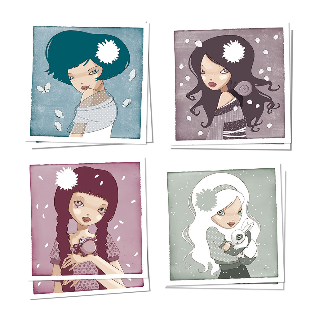 Jessica Secheret - illustration cartes postales