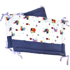 tour de lit - Petits Parisiens - motif éléphants