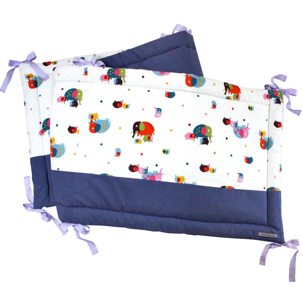 tour de lit petits parisiens motif l phants les folies douces. Black Bedroom Furniture Sets. Home Design Ideas