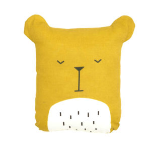 fabelab - coussin - ours - moutarde