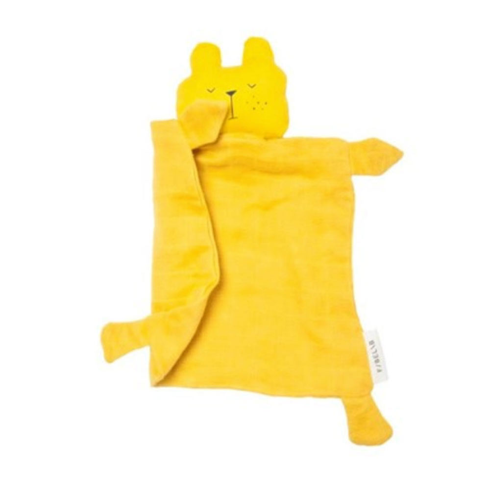 Fabelab - doudou plat - ours moutarde