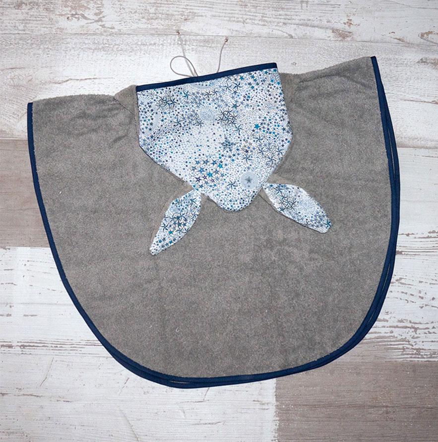 Un deux croix - Poncho Cape de bain liberty bleu