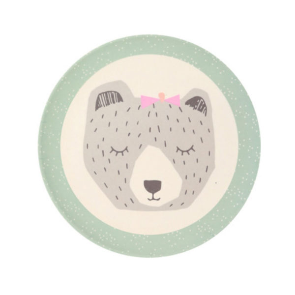 Love Mae - assiette maman ours - bamboo