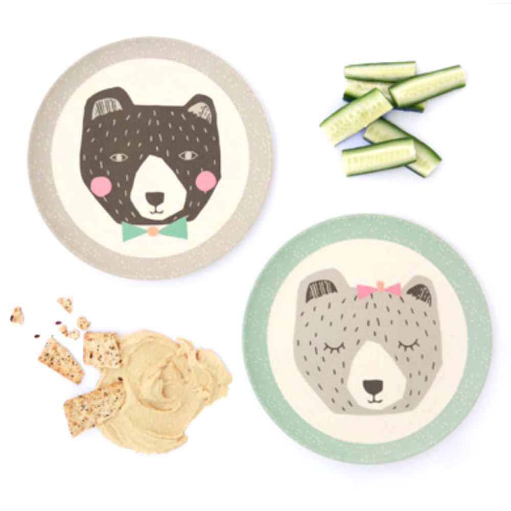 Love Mae - assiette ours - bamboo