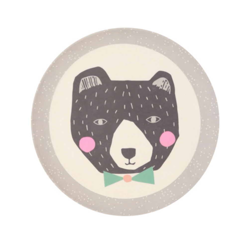 Love Mae - assiette papa ours - bamboo