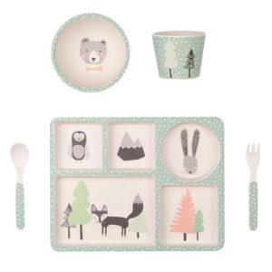 Love Mae - Kit vaisselle Bambou Renard