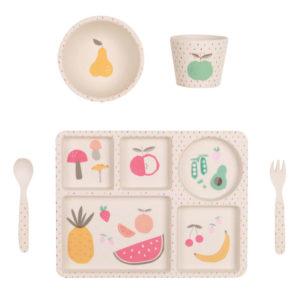 Love Mae - Kit vaisselle Bambou fruits et légumes