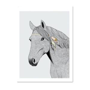 Minimel - cheval - affiche