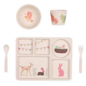 Love Mae - Kit vaisselle Bambou - l'heure du thé