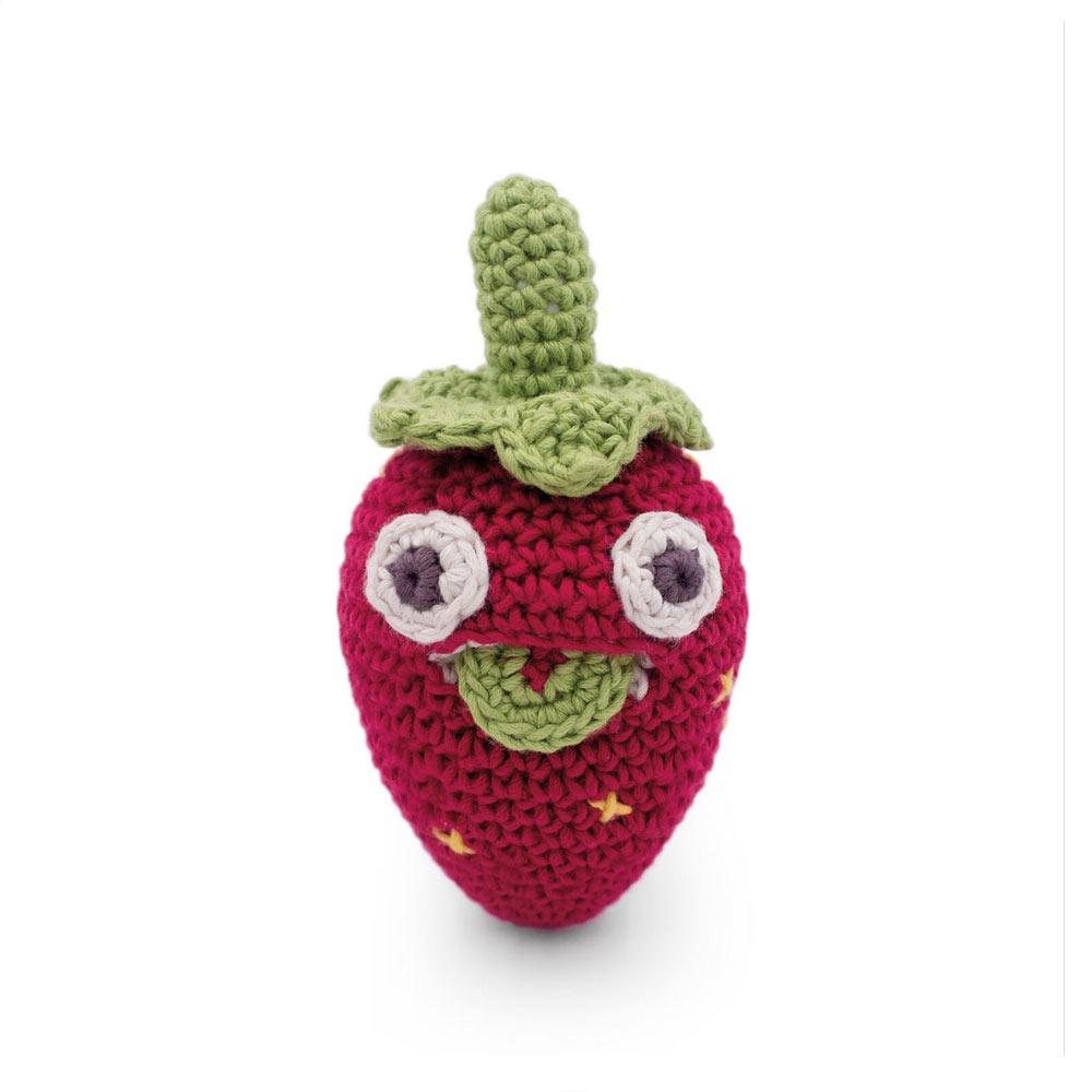 Myum-mini fraise en crochet