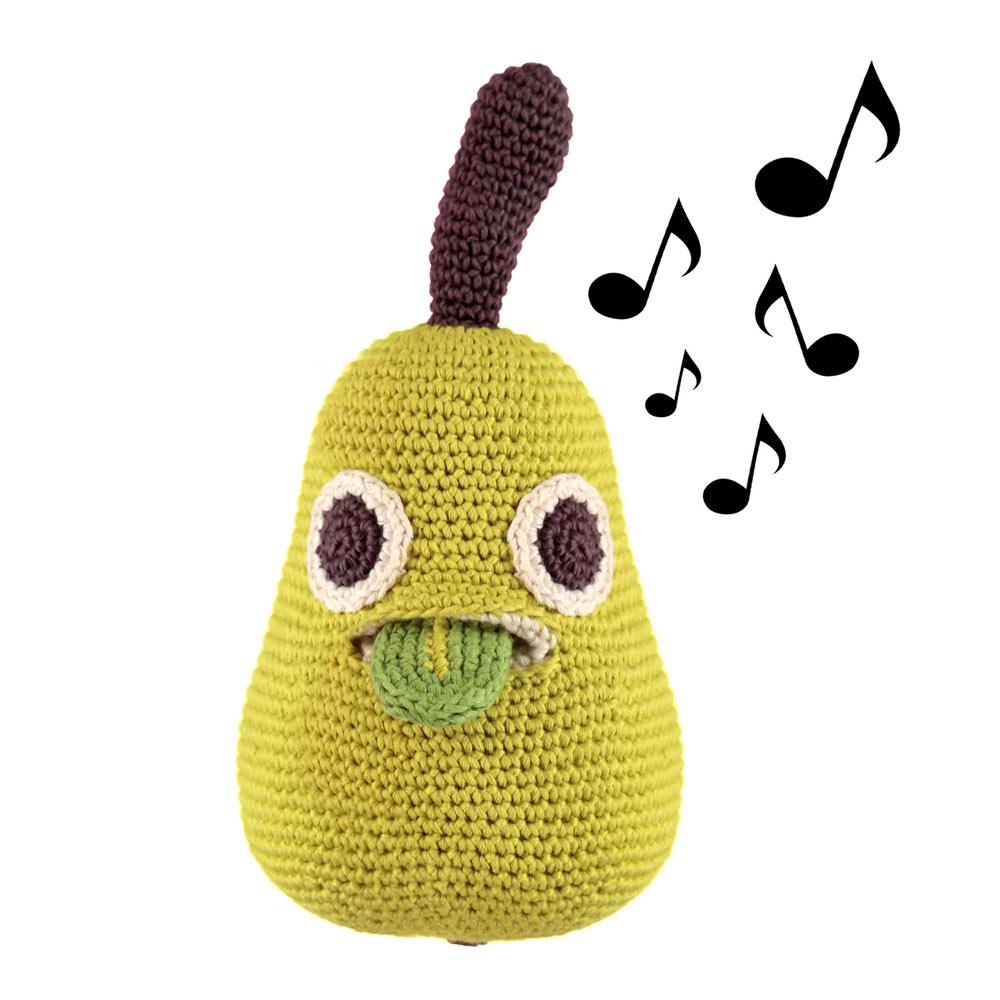 Myum- poire en crochet- boite à musique