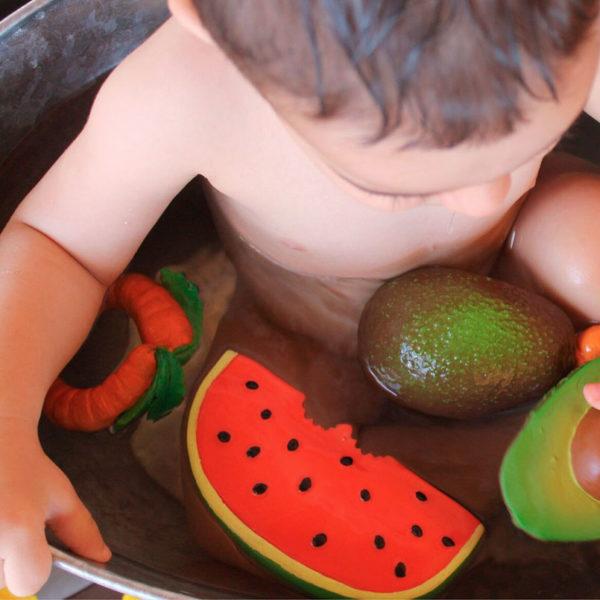 pastèque -  jouet de bain - Oli and Carol
