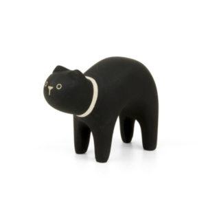 T-lab- chat noir en bois