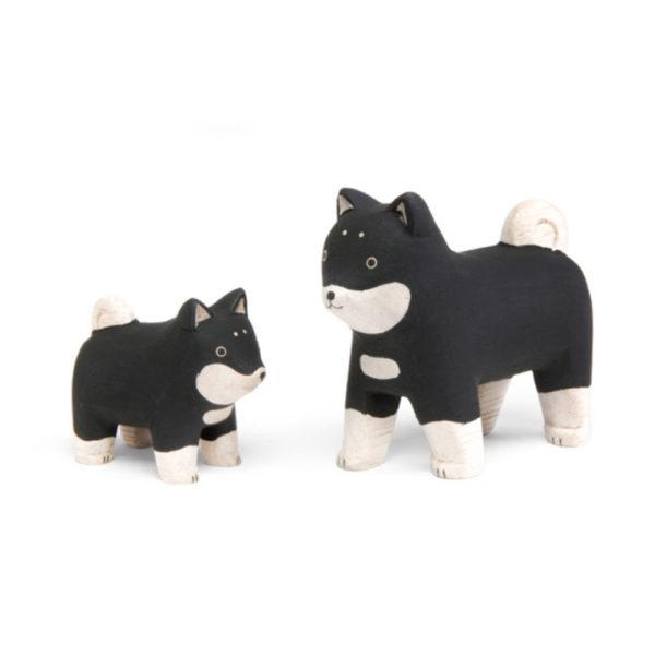 T-lab- famille de chien en bois