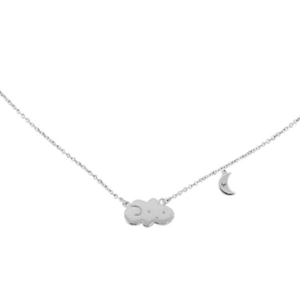 Grizzly Cheri - collier nuage argenté