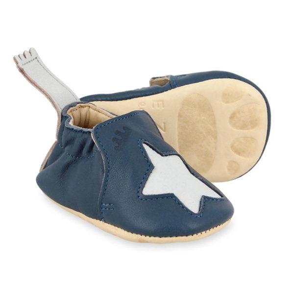 Chaussons Easy peasy blumoo bleu étoiles