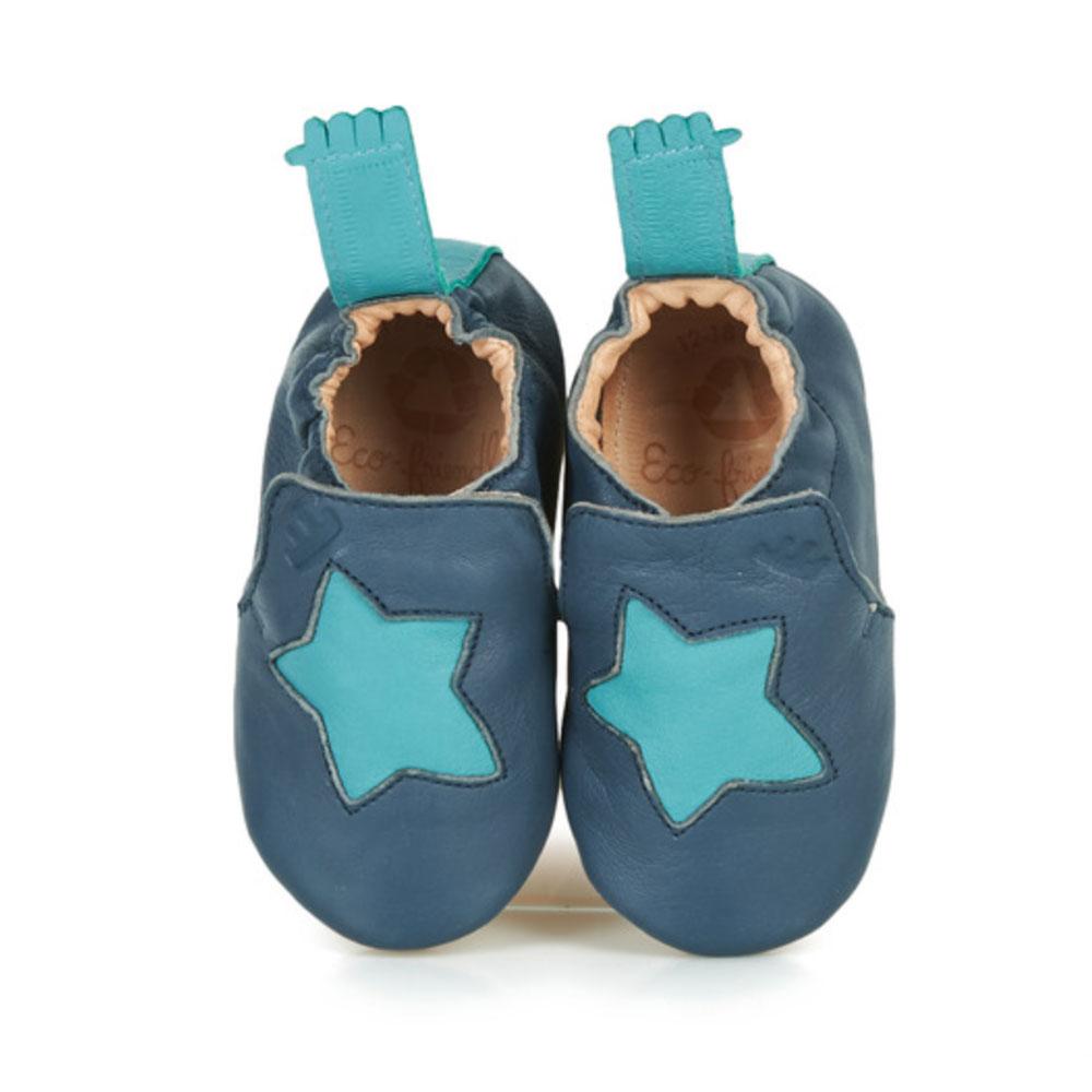 chaussons easy peasy - bleu étoile