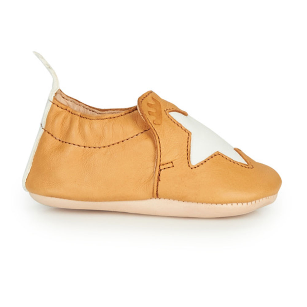 chaussons easy peasy - ocre étoile