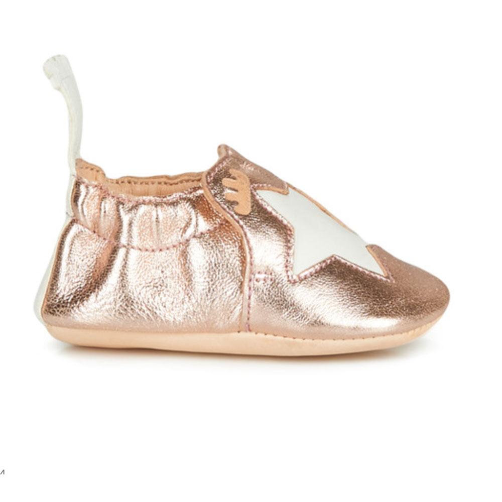chaussons easy peasy - rose brillant étoile