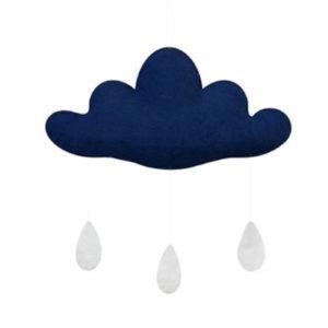 Gamcha petit nuage bleu foncé