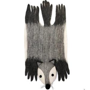 Gamcha tapis loup feutre laine