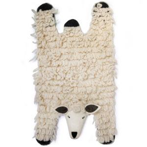 Gamcha tapispeau de mouton feutre laine