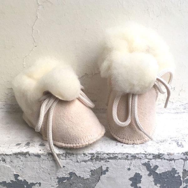 chaussons bébé peau de mouton