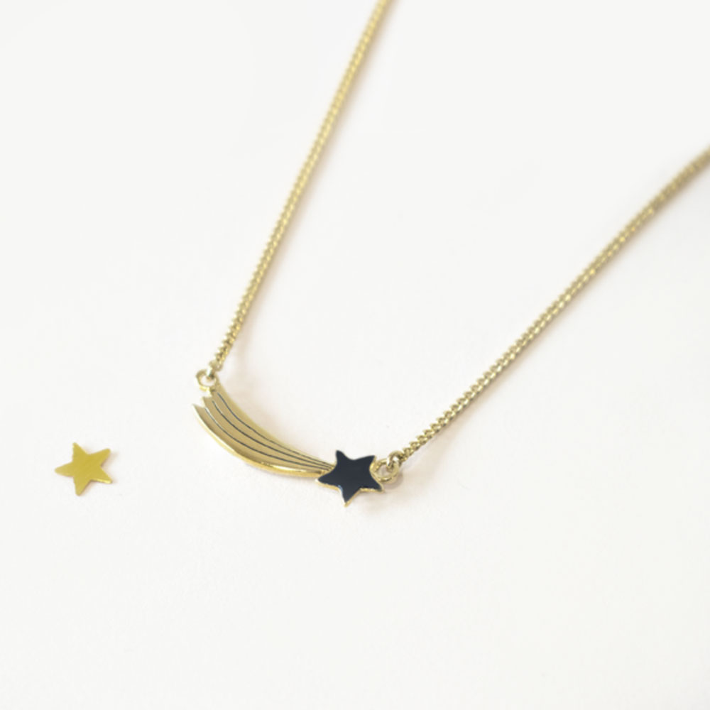 collier étoile filante - Grizzly-cheri