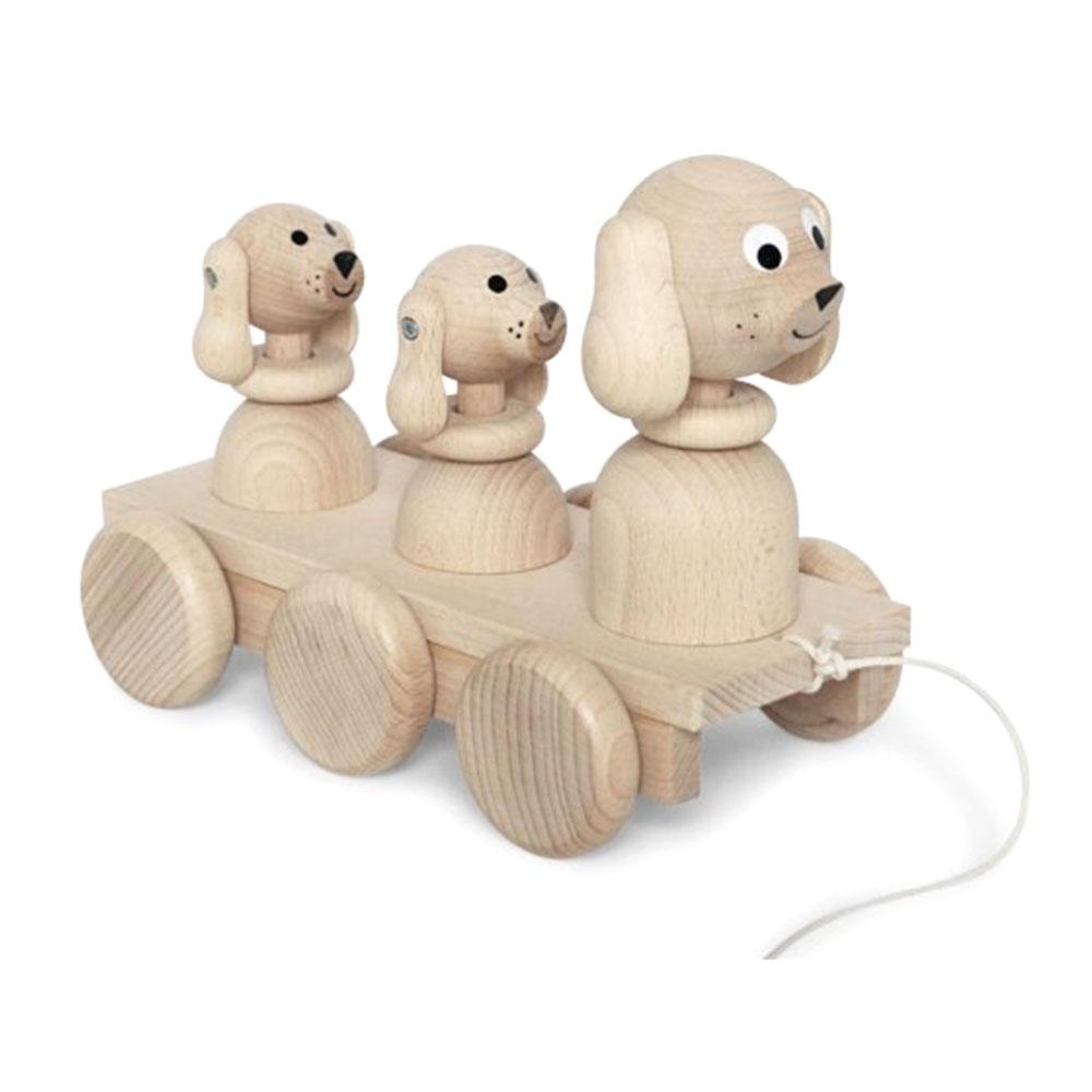 Famille chien - jouet en bois - Ella Frederik