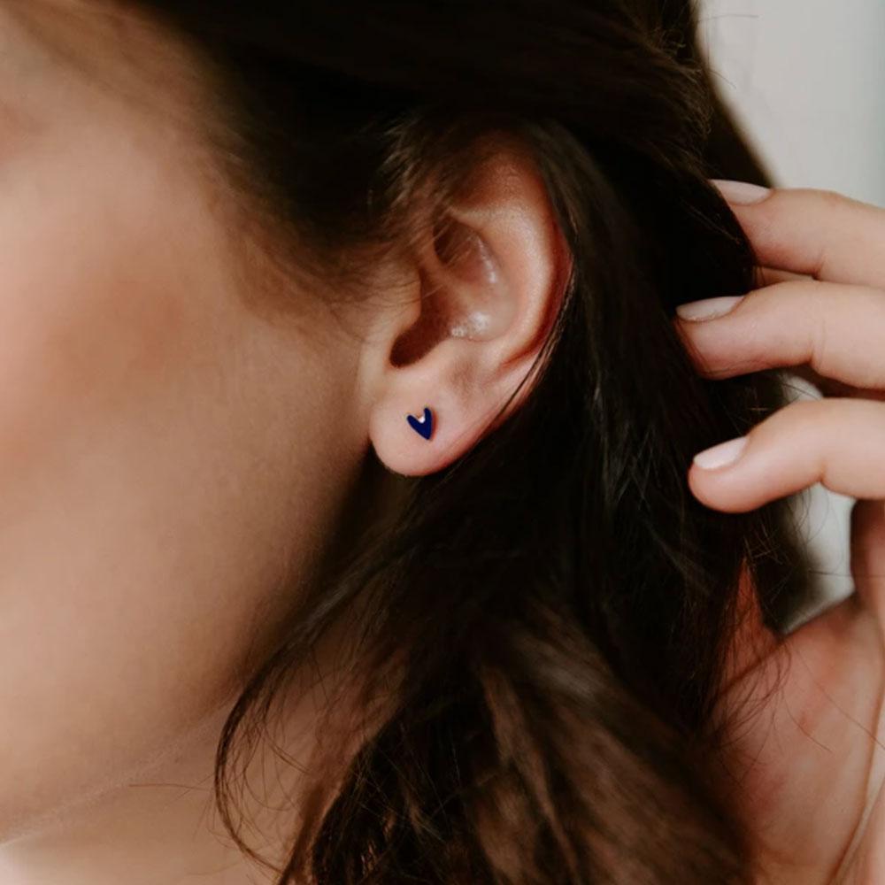 boucle d'oreilles petit coeur marine - grizzly chéri