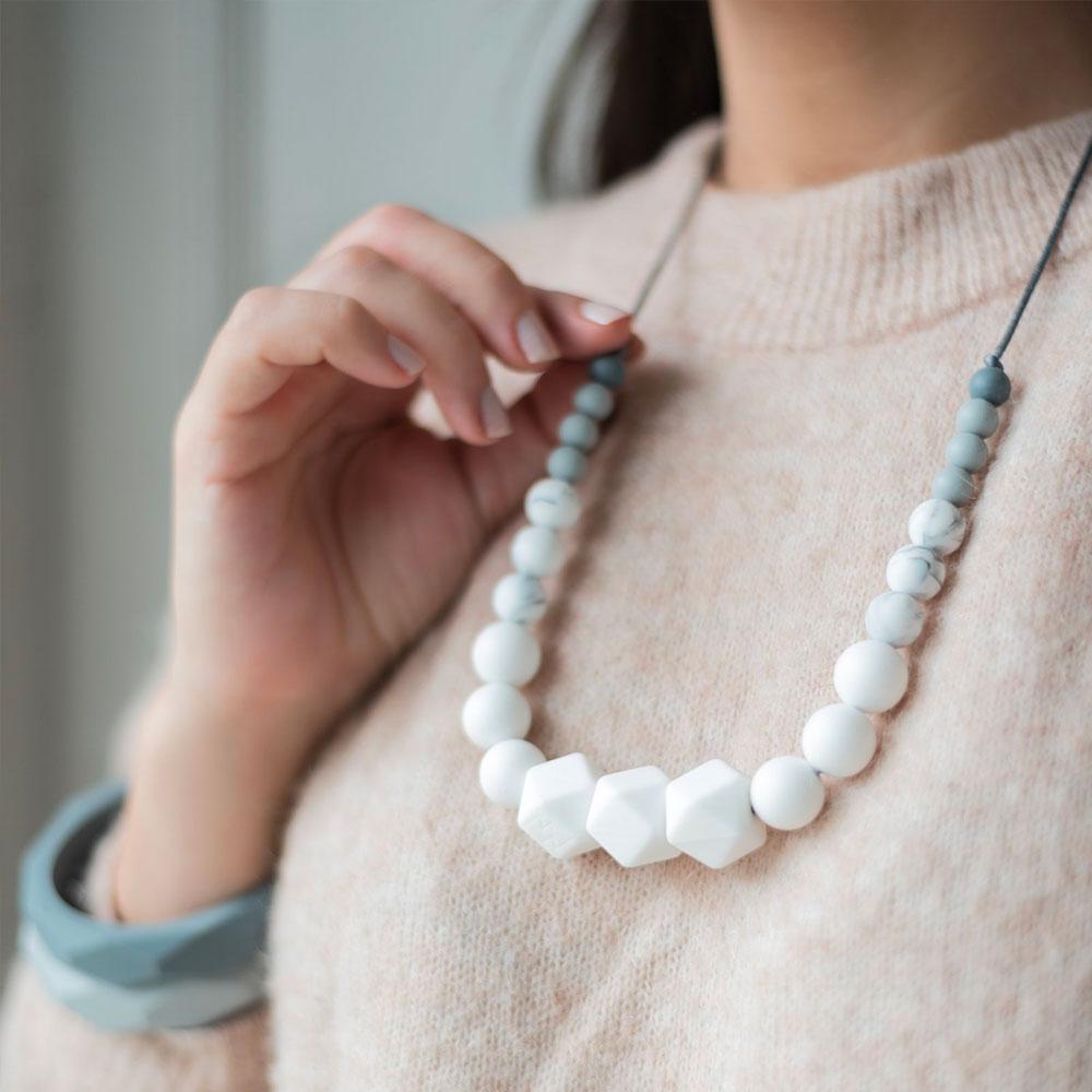 collier de dentition blanc- minty wendy