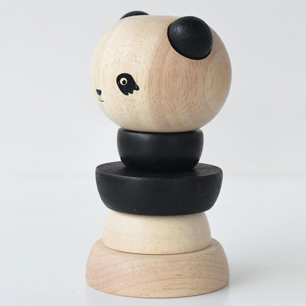 panda en bois à assembler - wee gallery