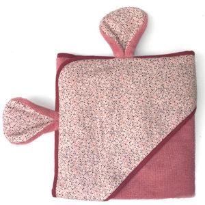 serviette de bain vieux rose - bambou