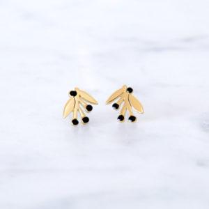 boucles d'oreilles griottes - grizzly chéri