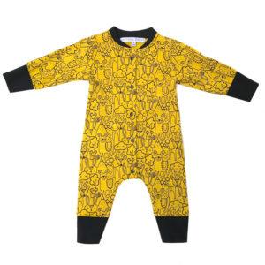 combinaison pyjama jaune - les folies douces