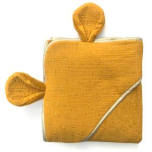 serviette de bain moutarde - bambou